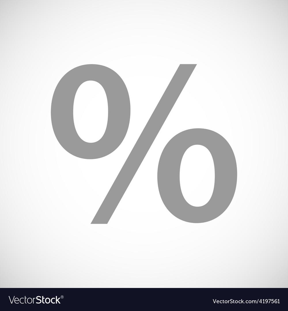 Percent black icon vector | Price: 1 Credit (USD $1)