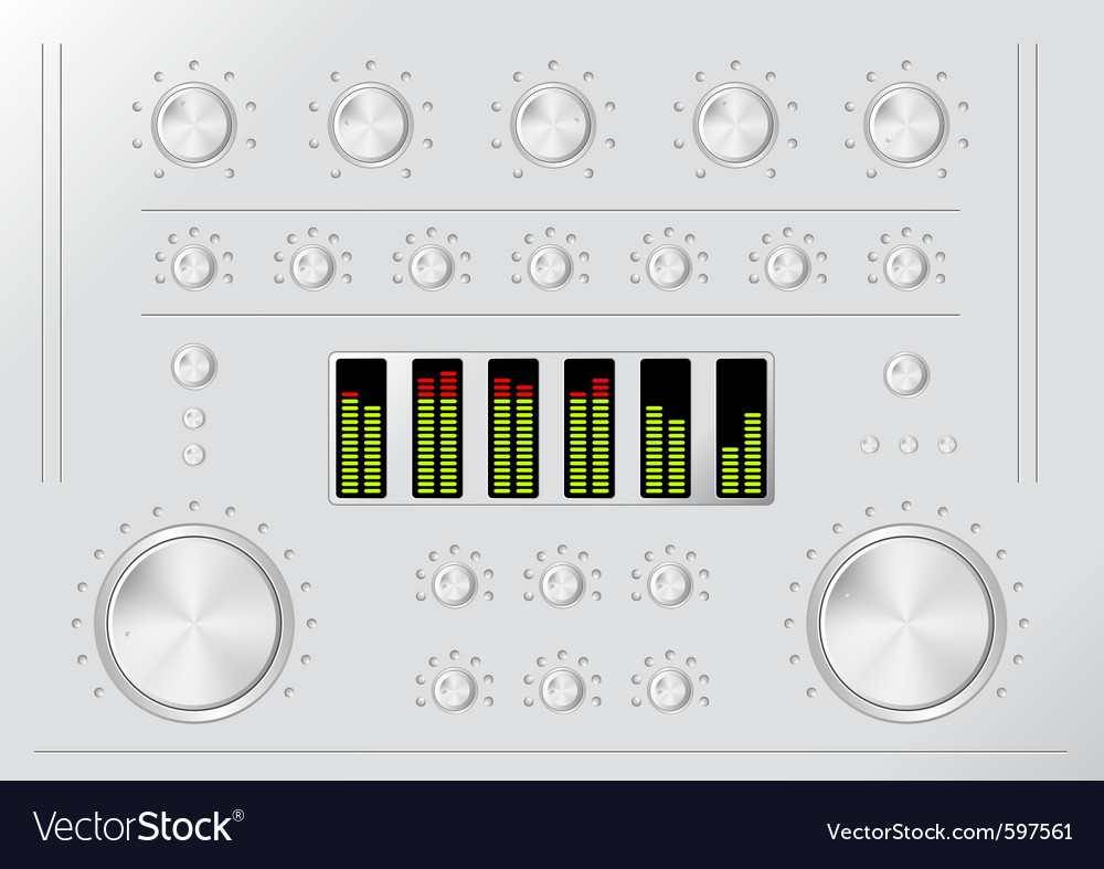 Stereo mixer vector | Price: 1 Credit (USD $1)