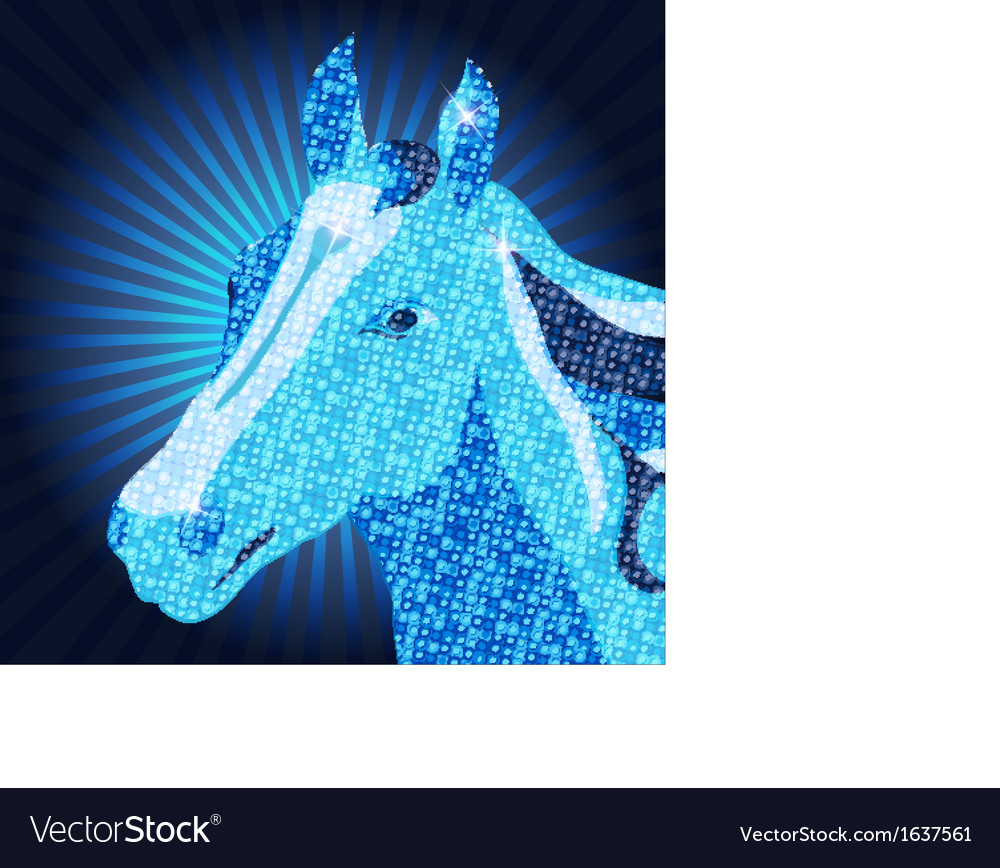 Symbol of 2014 mozaic horse vector | Price: 1 Credit (USD $1)