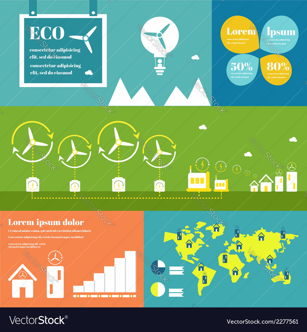 Wind energy infographic elements vector | Price: 1 Credit (USD $1)