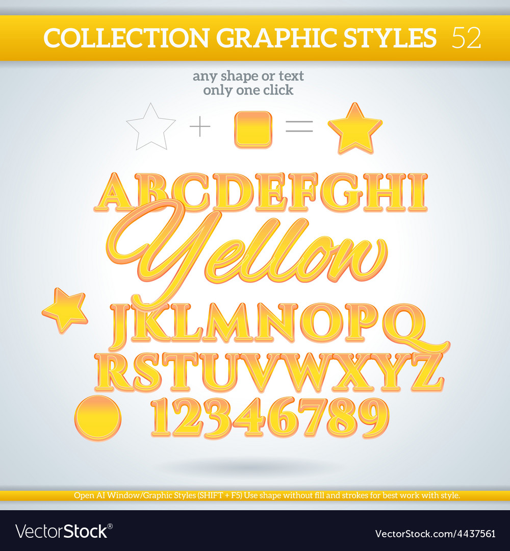 Yellow graphic styles for design use for decor vector | Price: 1 Credit (USD $1)