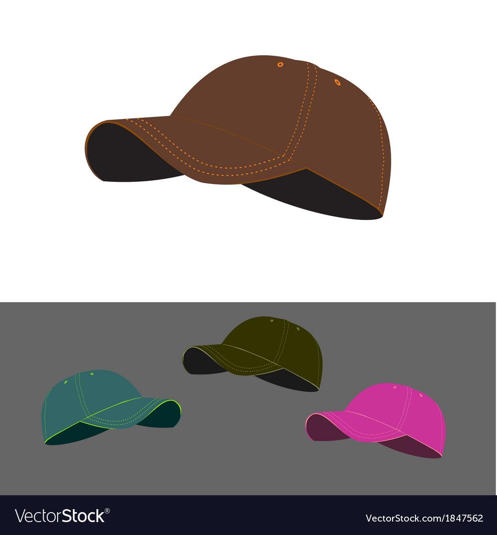 Baseball caps vector | Price: 1 Credit (USD $1)