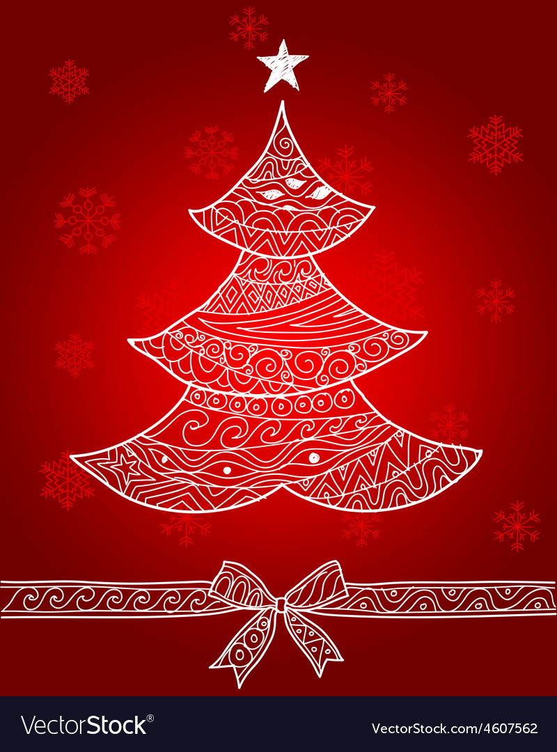 Christmas tree2 vector | Price: 1 Credit (USD $1)