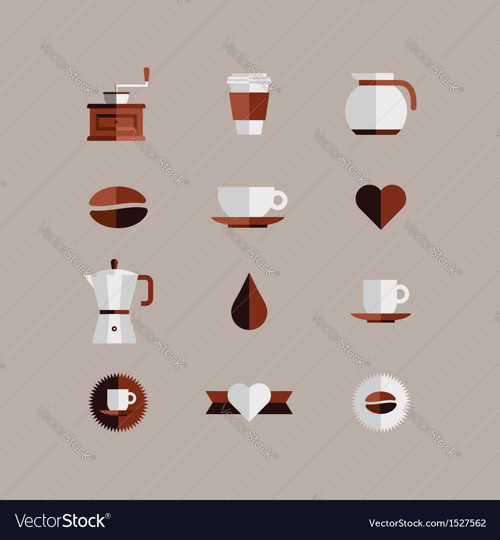 Coffee shop icons vector | Price: 1 Credit (USD $1)