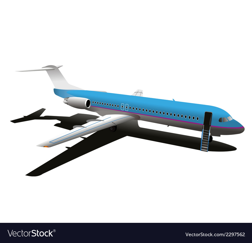 Commercial airplane stock vector | Price: 1 Credit (USD $1)