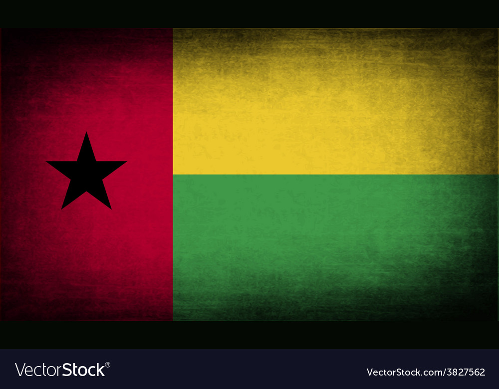 Flag of guinea-bissau with old texture vector   Price: 1 Credit (USD $1)