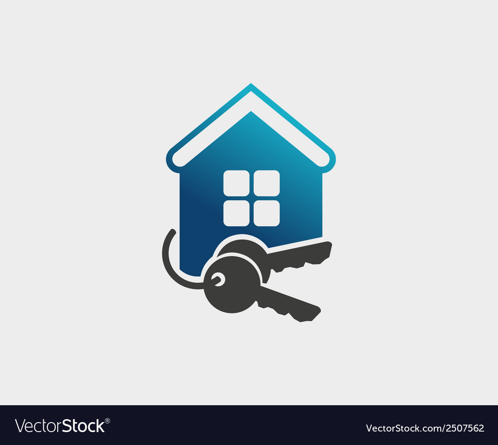 House and key selling and renting vector | Price: 1 Credit (USD $1)