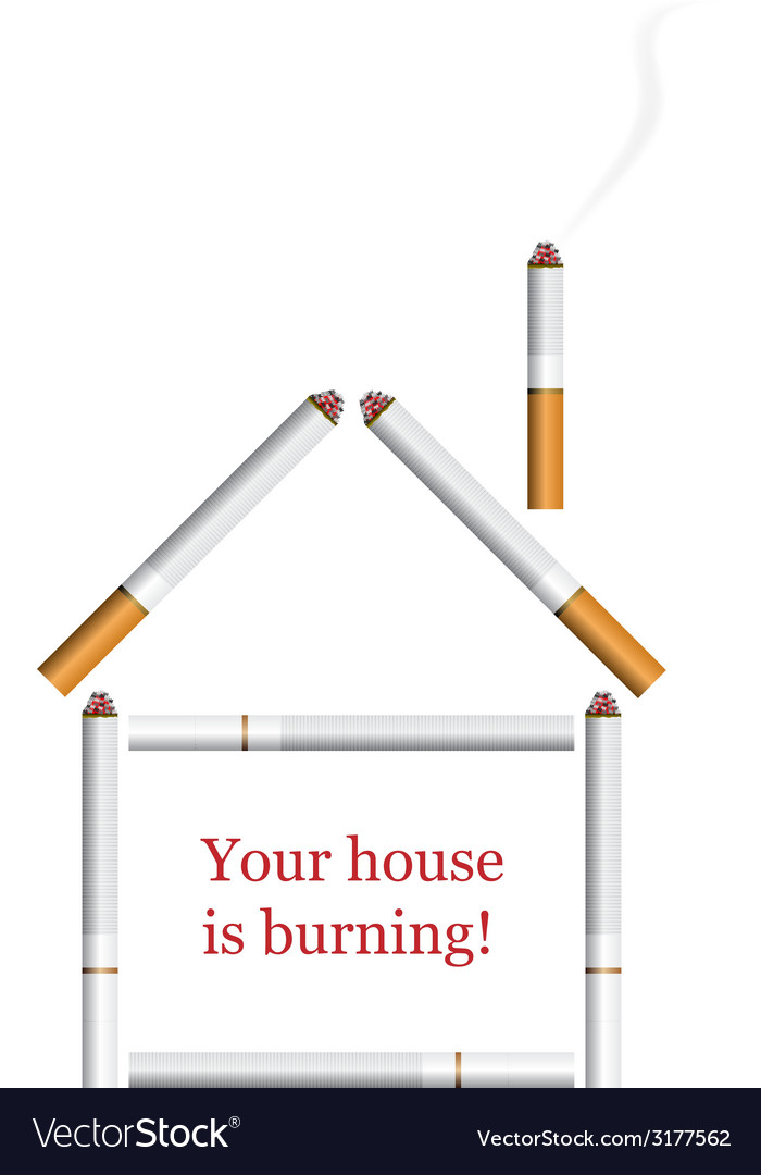 House from cigarettes vector | Price: 1 Credit (USD $1)