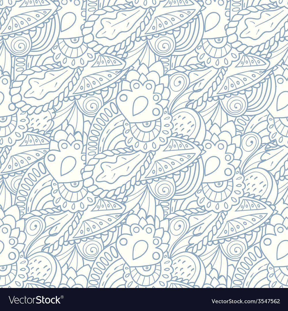 Pastel seamless pattern with hand drawn elements vector | Price: 1 Credit (USD $1)