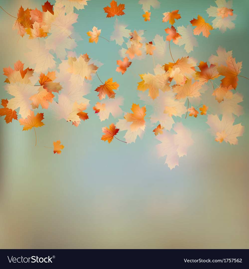 Retro image of autumn leaves on the sky eps 10 vector | Price: 1 Credit (USD $1)