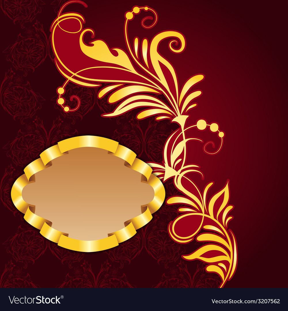 Royal frame with floral pattern vector | Price: 1 Credit (USD $1)