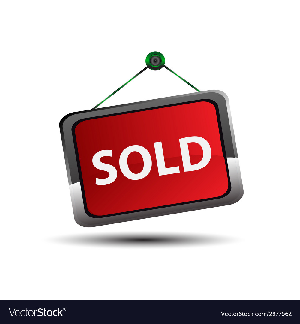 Sold sign vector   Price: 1 Credit (USD $1)
