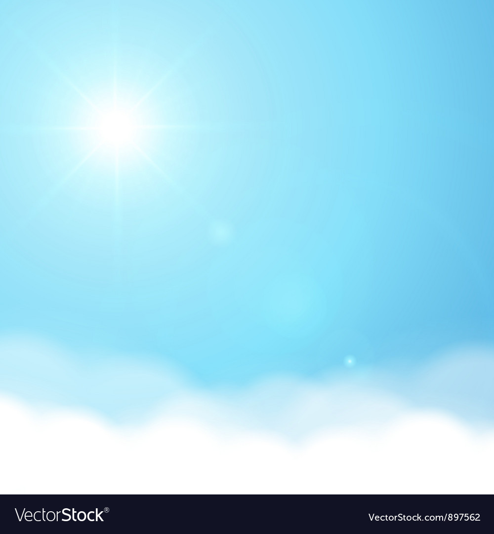 Sun and sky background vector | Price: 1 Credit (USD $1)