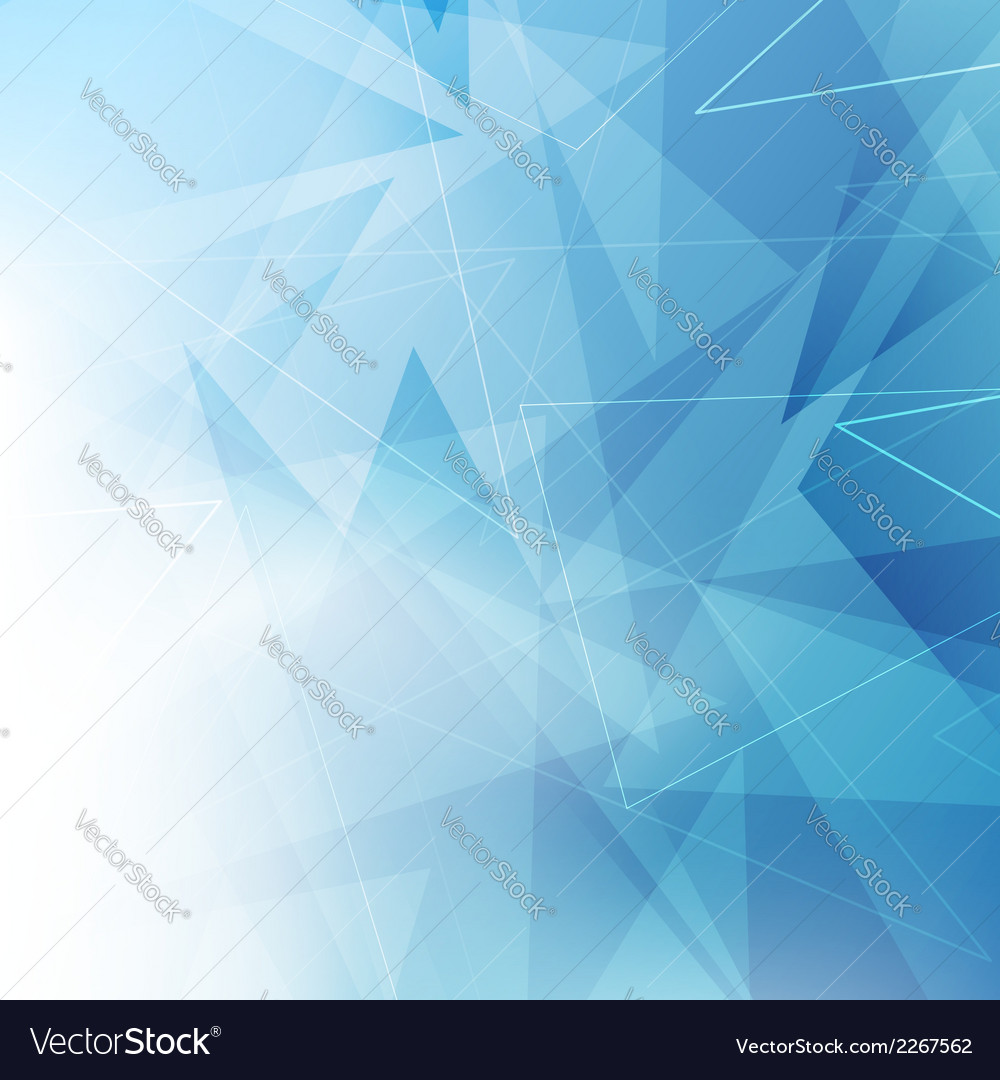 Triangular blue geometrical background vector | Price: 1 Credit (USD $1)