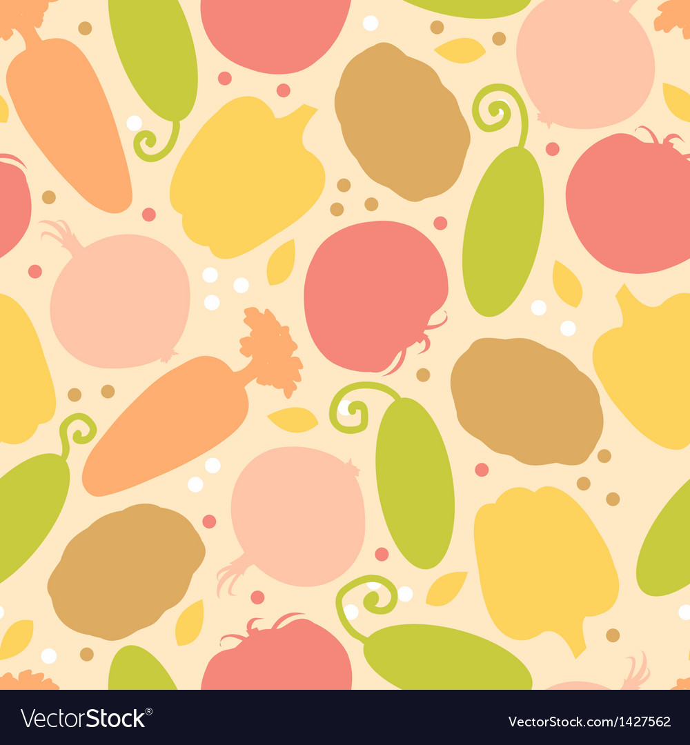 Yummy vegetables seamless pattern background vector | Price: 1 Credit (USD $1)