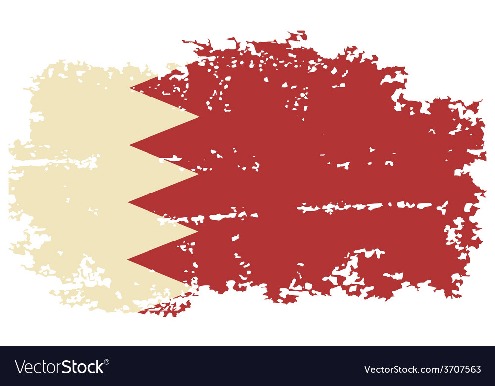 Bahrain grunge flag vector | Price: 1 Credit (USD $1)