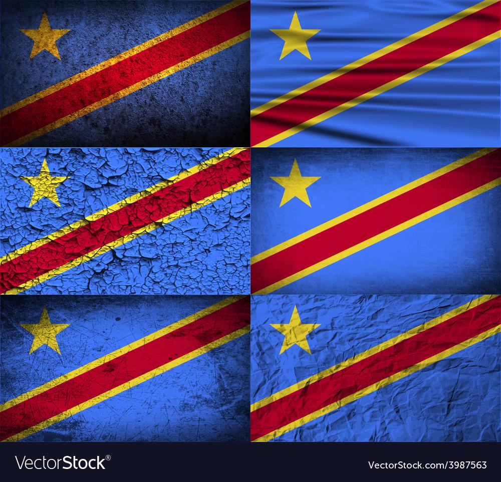 Flag of congo democratic republic with old texture vector | Price: 1 Credit (USD $1)