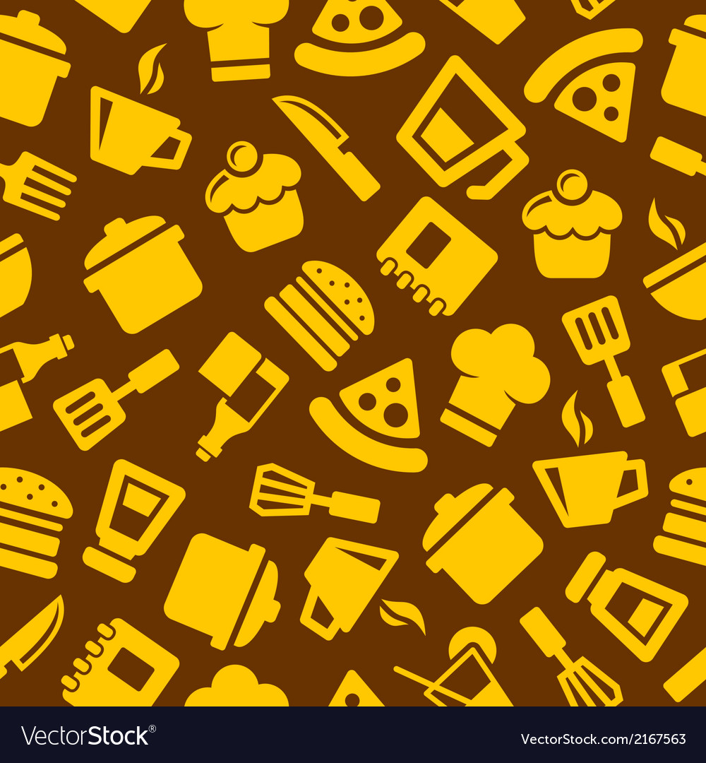 Seamless kitchen pattern vector | Price: 1 Credit (USD $1)