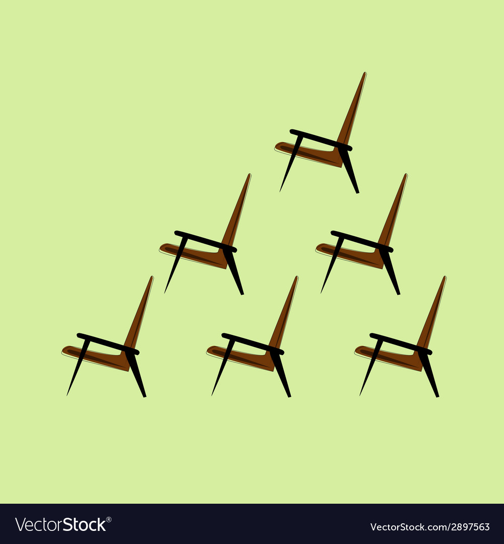 Set of brown chair on a light background vector | Price: 1 Credit (USD $1)