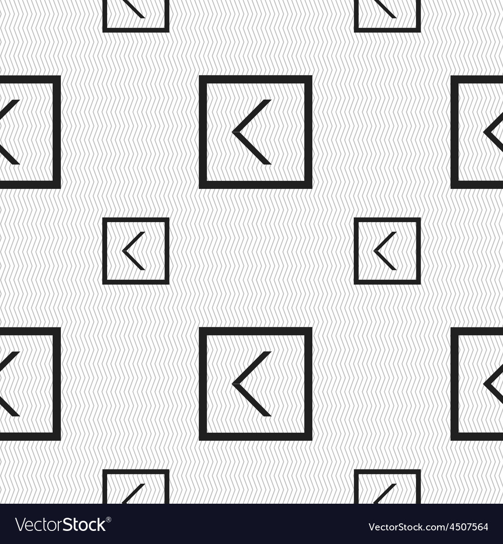 Arrow left way out icon sign seamless pattern with vector   Price: 1 Credit (USD $1)