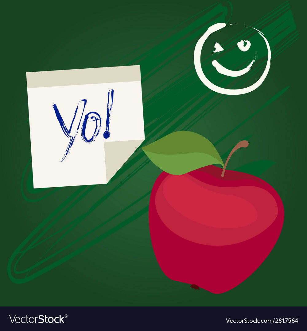 Back to school design with apple vector   Price: 1 Credit (USD $1)