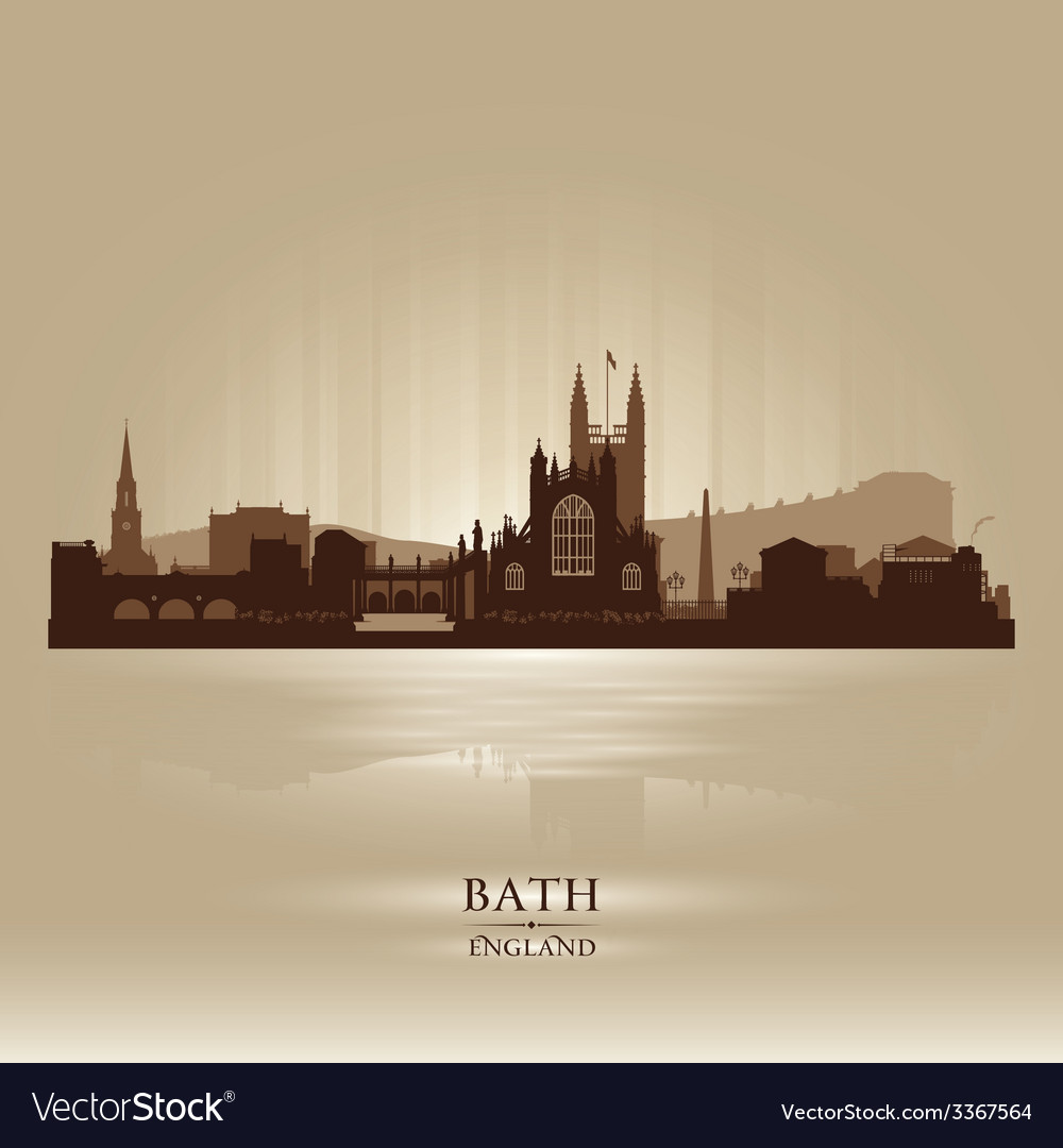 Bath england skyline city silhouette vector | Price: 1 Credit (USD $1)