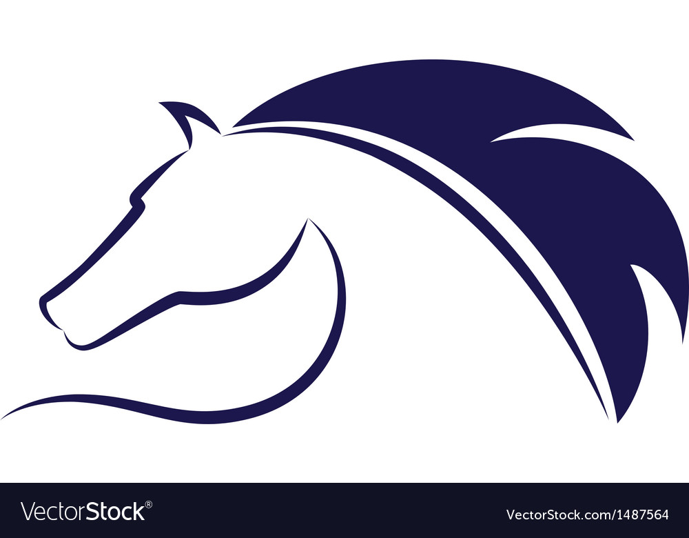 Blue horse emblem vector | Price: 1 Credit (USD $1)