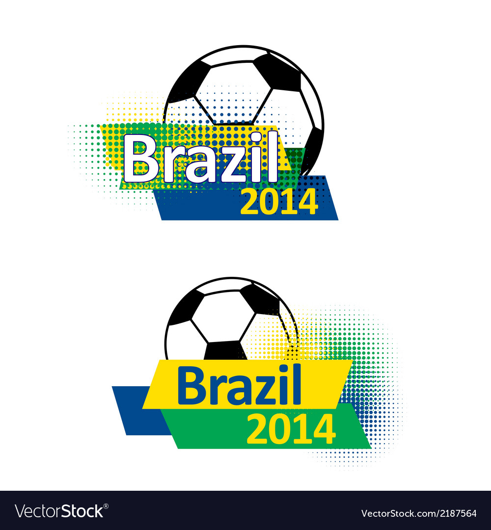 Brazil 2014 soccer banners vector | Price: 1 Credit (USD $1)