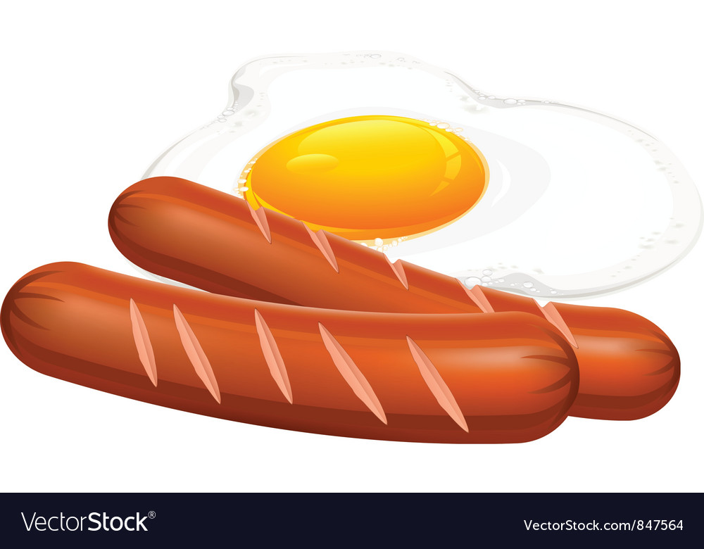 Egg two wieners vector | Price: 3 Credit (USD $3)