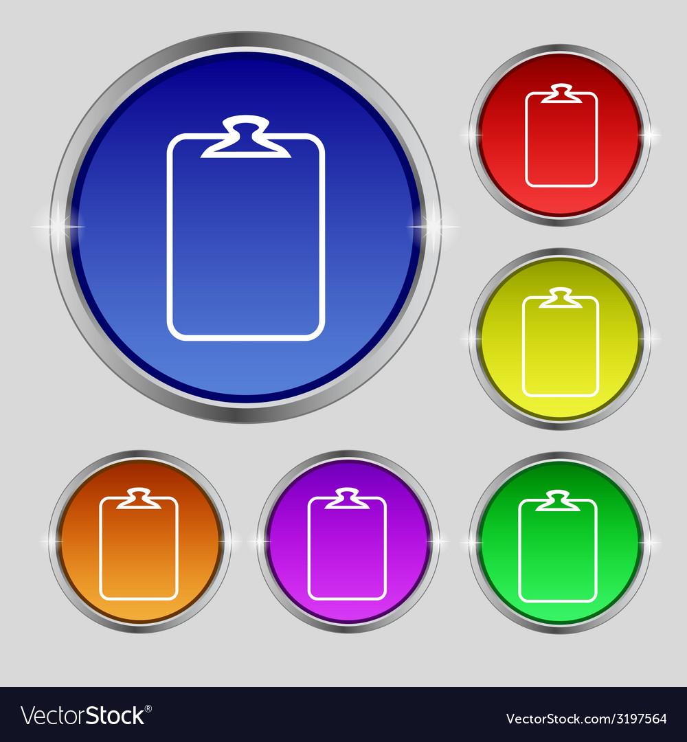File annex icon paper clip symbol attach sign set vector   Price: 1 Credit (USD $1)