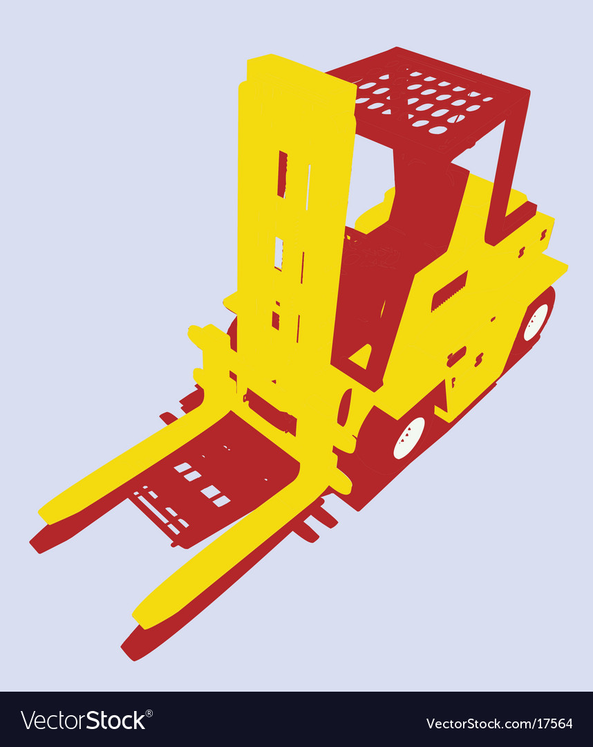Fork lift vector | Price: 1 Credit (USD $1)