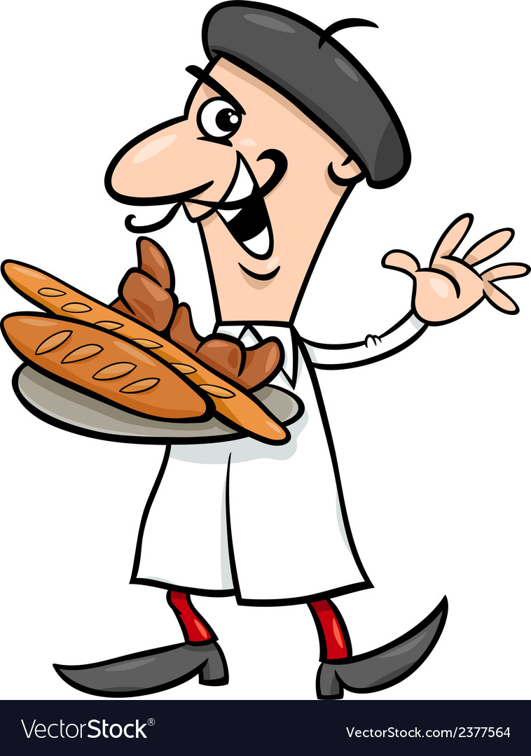 French baker cartoon vector | Price: 1 Credit (USD $1)