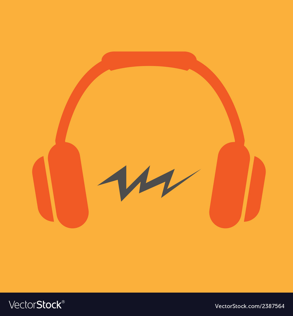 Headphone flat icon vector | Price: 1 Credit (USD $1)