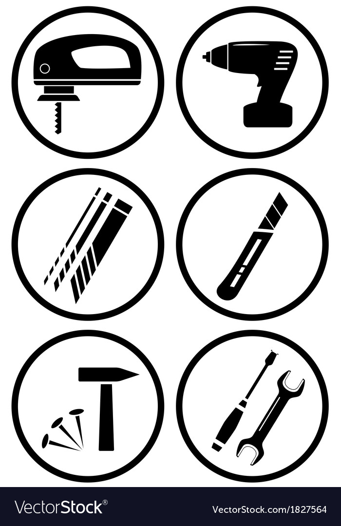 Icon construction equipment for repair vector | Price: 1 Credit (USD $1)