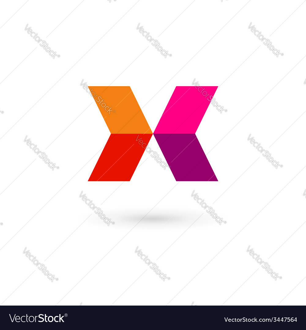 Letter x mosaic logo icon design template elements vector | Price: 1 Credit (USD $1)