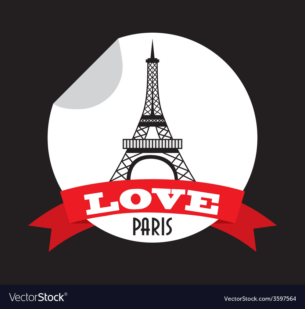 Love in paris vector | Price: 1 Credit (USD $1)