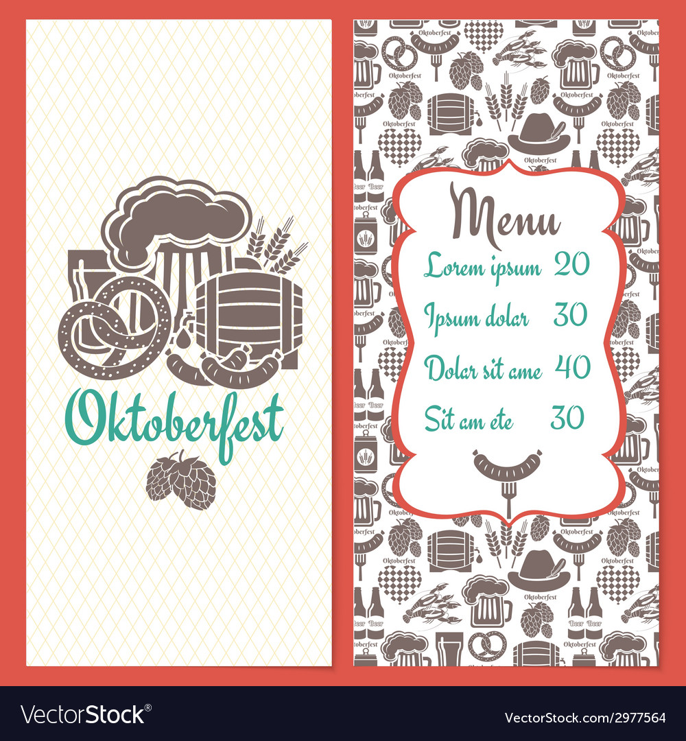 Oktoberfest menu template vector | Price: 1 Credit (USD $1)