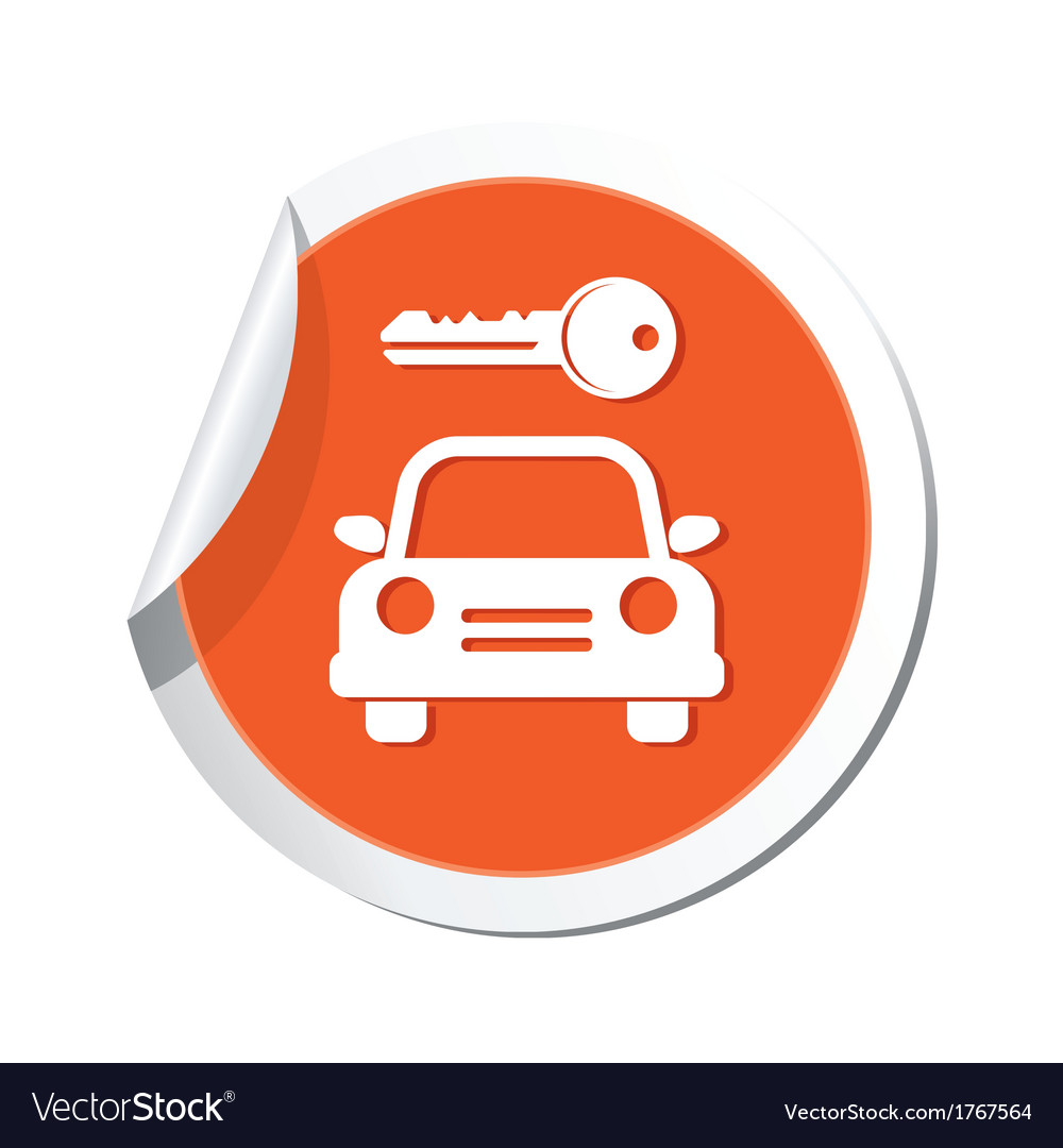 Parking symbol orange tag vector | Price: 1 Credit (USD $1)