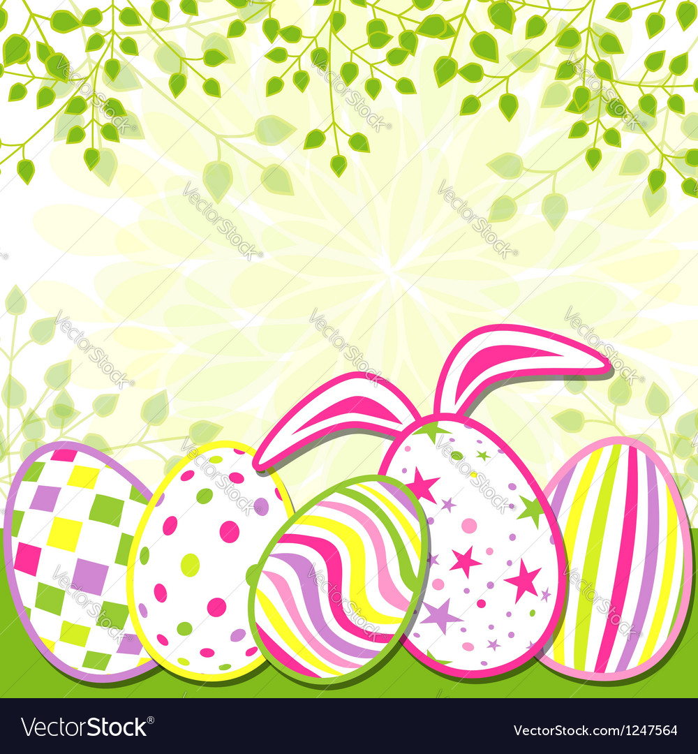 Springtime easter holiday greeting card vector | Price: 1 Credit (USD $1)