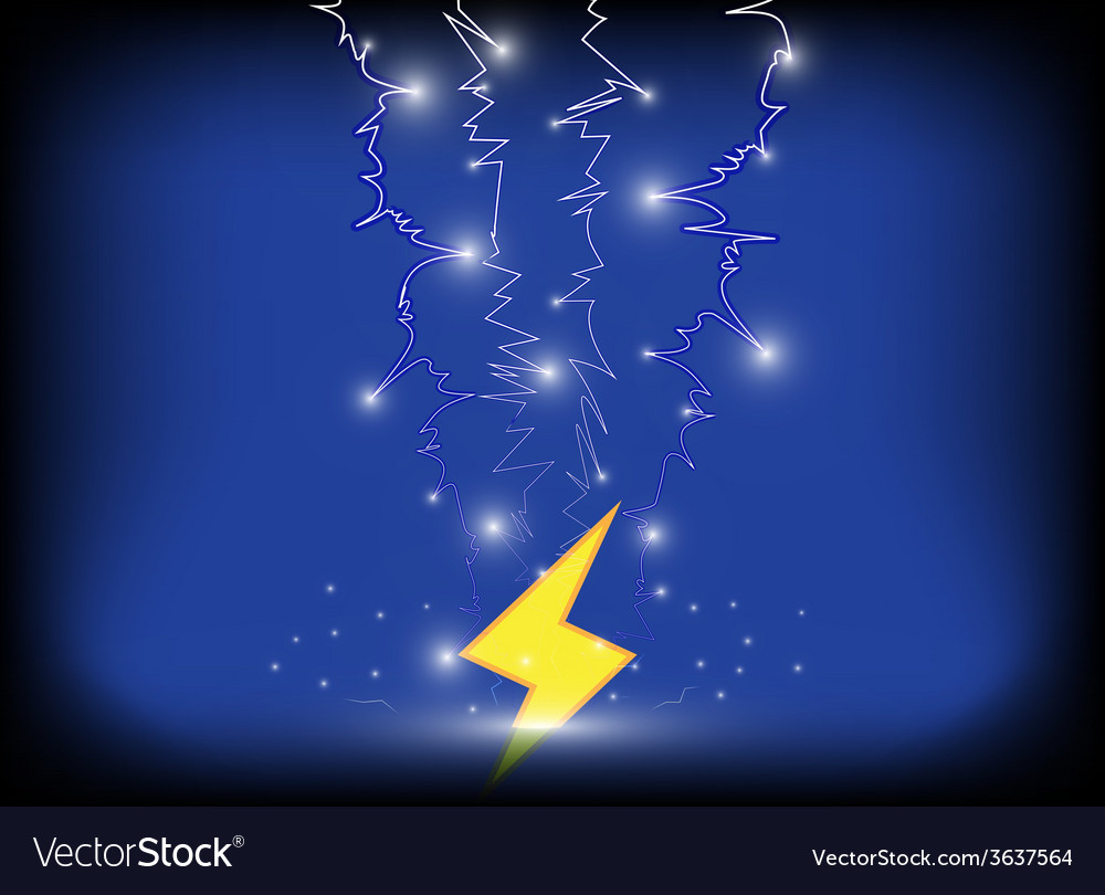 Thunder bolt background eps10 vector | Price: 1 Credit (USD $1)