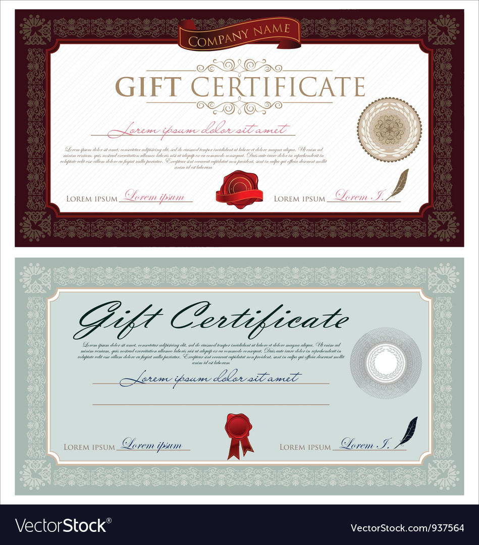 Vintage certificate vector | Price: 3 Credit (USD $3)