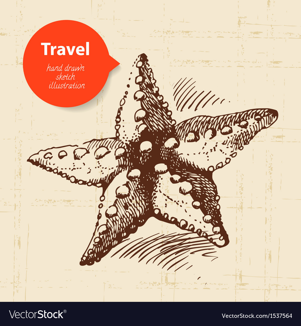 Vintage travel background vector | Price: 1 Credit (USD $1)