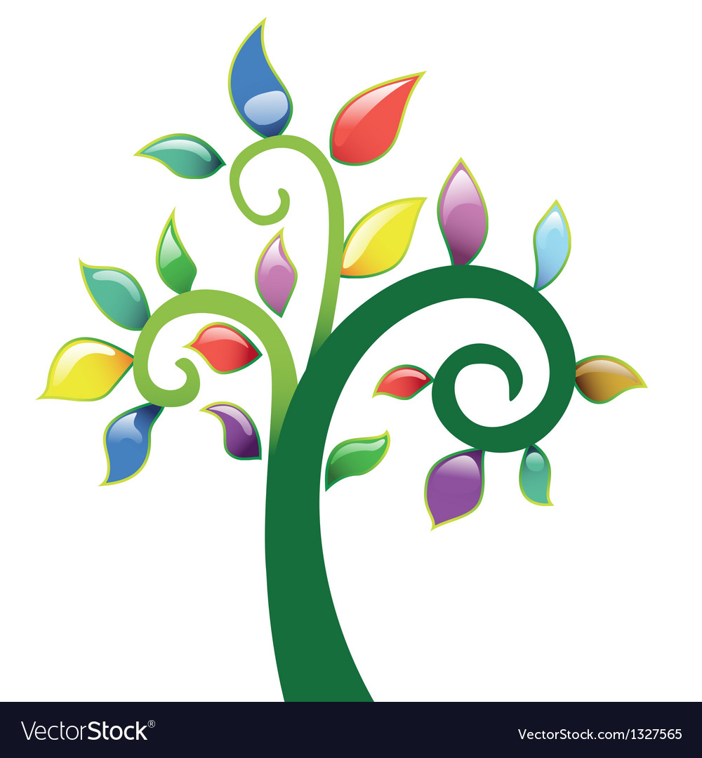 Abstract tree vecor icon vector | Price: 1 Credit (USD $1)