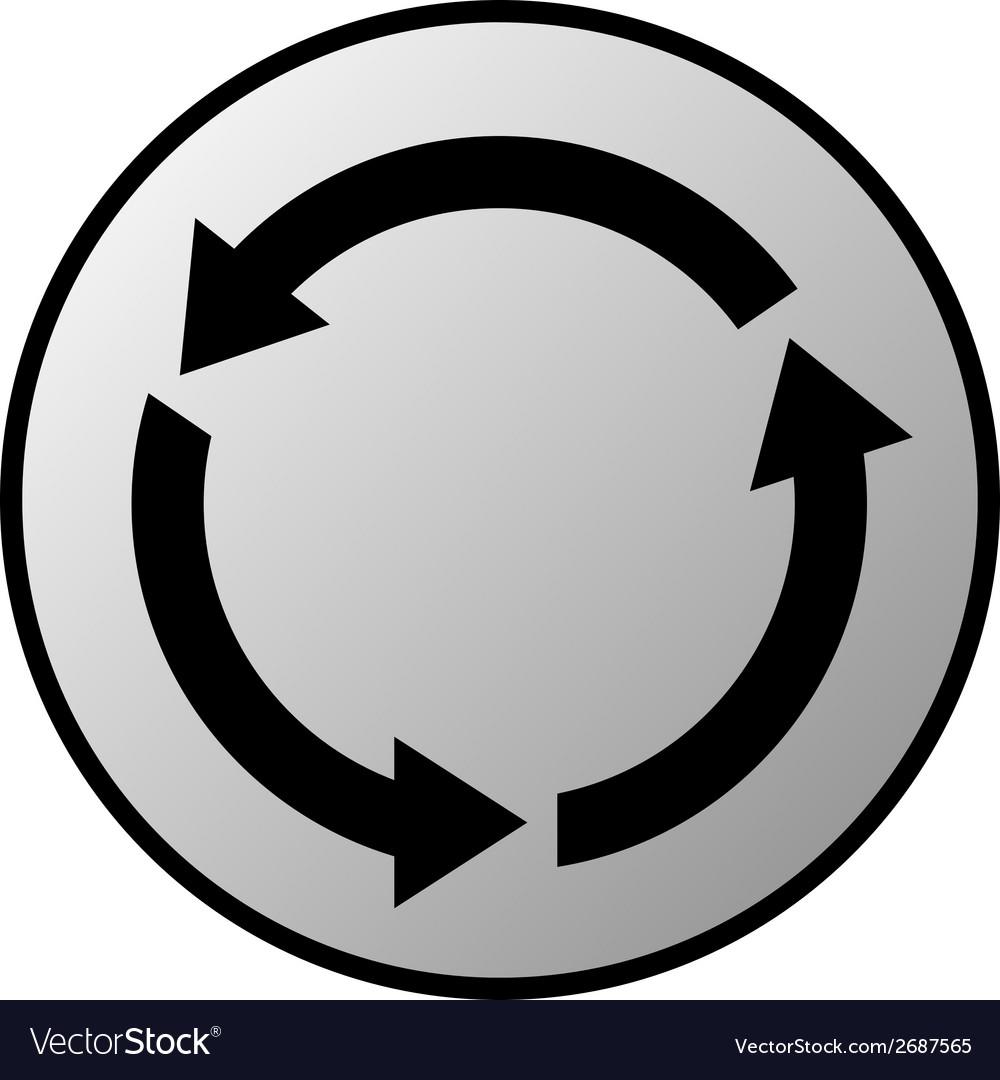 Arrows circle button vector | Price: 1 Credit (USD $1)
