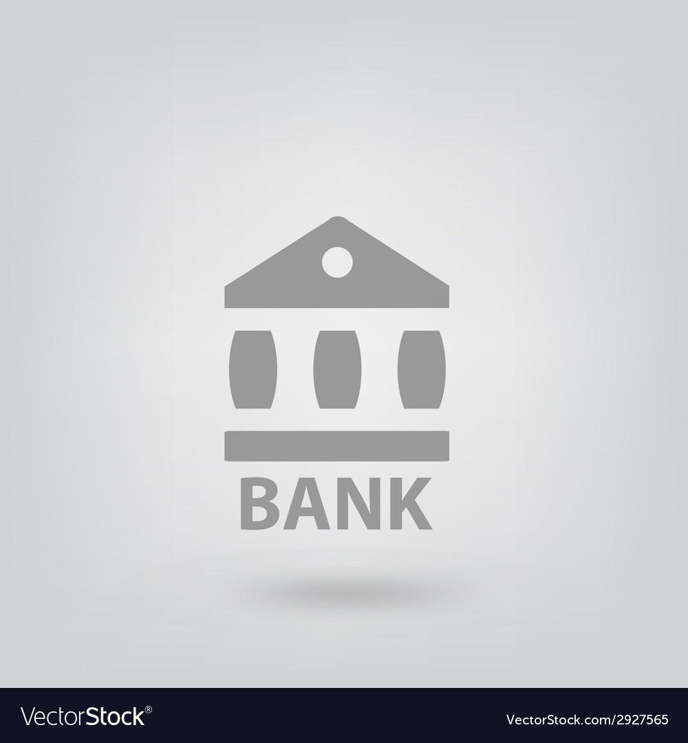 Bank icon vector | Price: 1 Credit (USD $1)