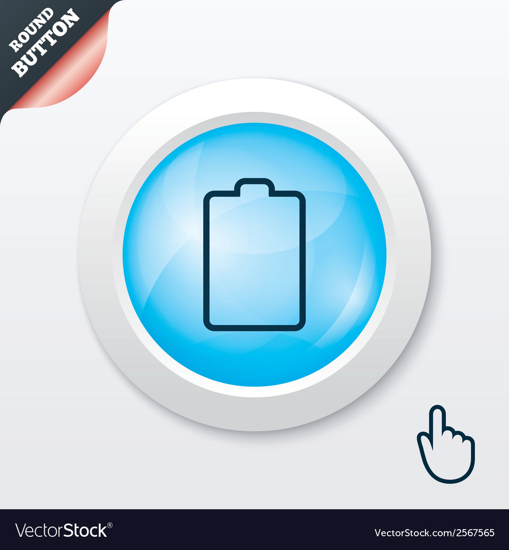 Battery empty sign icon low electricity symbol vector   Price: 1 Credit (USD $1)