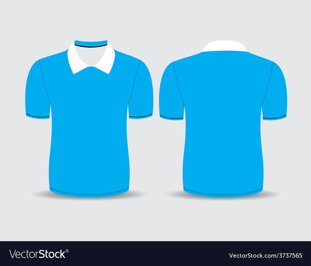 Blue polo t shirt vector | Price: 1 Credit (USD $1)
