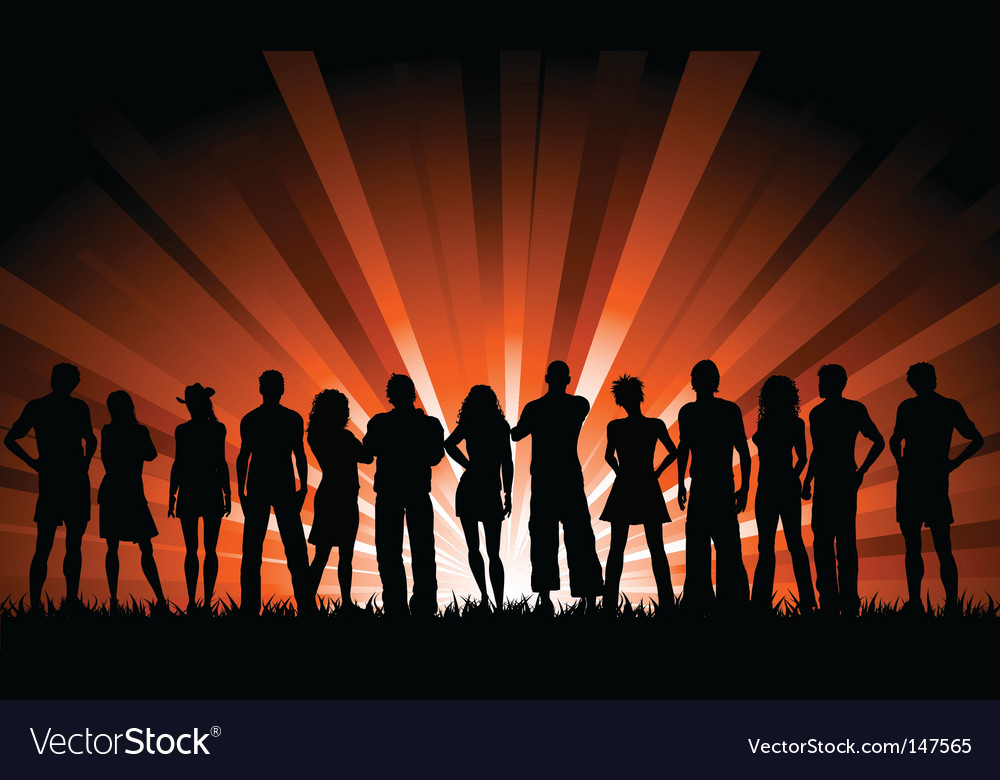 Crowd of people vector | Price: 1 Credit (USD $1)
