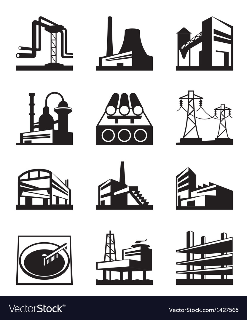 Different types of industrial construction vector | Price: 1 Credit (USD $1)