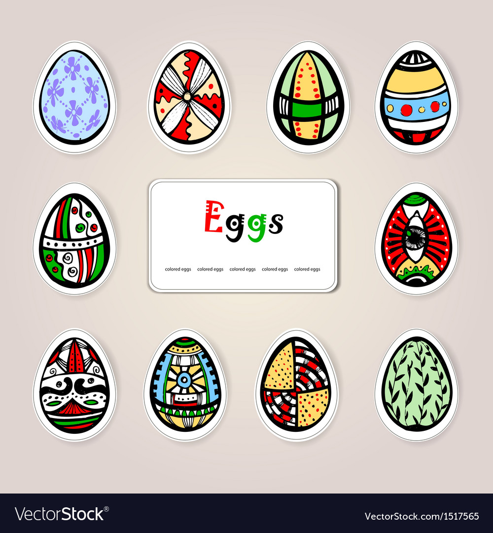 Easter holiday eggs vector | Price: 1 Credit (USD $1)